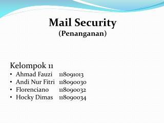 Mail Security ( Penanganan )