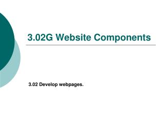 3.02G Website Components
