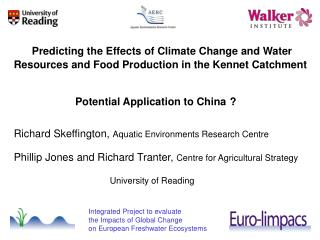 Predicting the Effects of Climate Change and Water