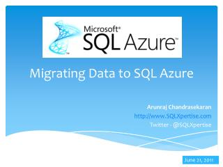 Migrating Data to SQL Azure
