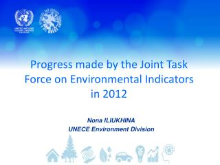 Progress made by the Joint Task Force on Environmental Indicators in 2012