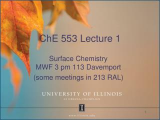 ChE 553 Lecture 1