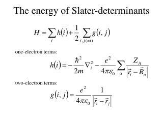 The energy of Slater-determinants
