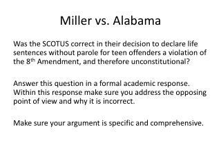Miller vs. Alabama