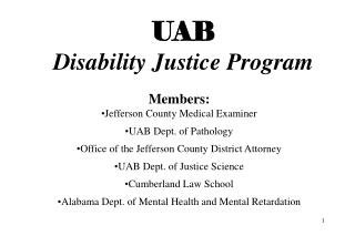 UAB Disability Justice Program