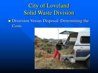 City of Loveland  Solid Waste Division