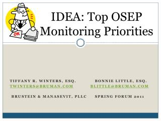 IDEA: Top OSEP Monitoring Priorities