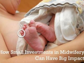 How Small Investments in Midwifery  Can  H ave  B ig  I mpact