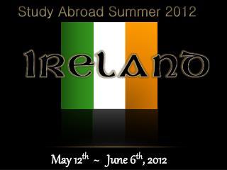 Study Abroad Summer 2012