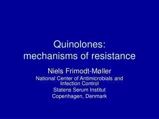 Quinolones:  mechanisms of resistance