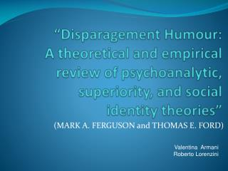 (MARK A. FERGUSON and THOMAS E. FORD)