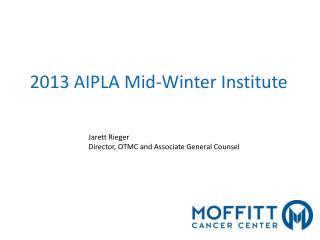 Jarett Rieger Director, OTMC and Associate General Counsel