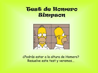 Test de Homero Simpson