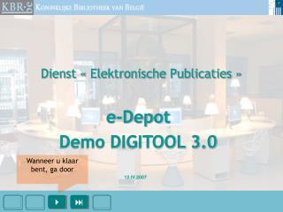 Dienst «Elektronische Publicaties»