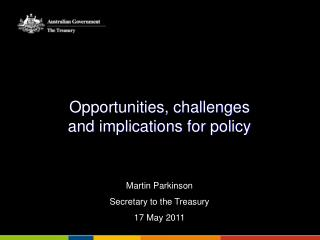Opportunities, challenges  and implications for policy