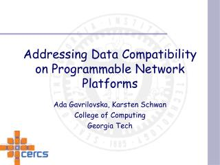 Addressing Data Compatibility on Programmable Network Platforms