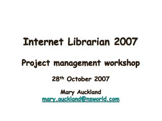 Internet Librarian 2007