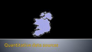 Quantitative data sources