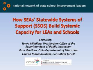 How SEAs' Statewide Systems of Support (SSOS) Build Systemic Capacity for LEAs and Schools