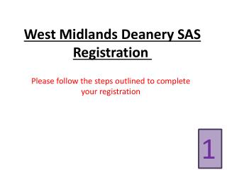 West Midlands Deanery SAS Registration