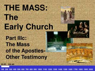 THE MASS: The  Early Church