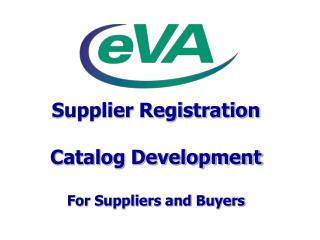 Supplier Registration Catalog Development For Suppliers and Buyers
