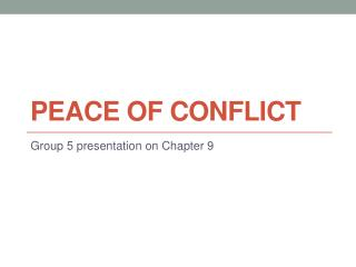 Peace of Conflict