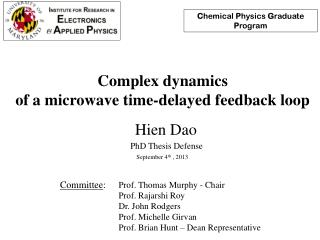 Complex dynamics  of a microwave time-delayed feedback loop