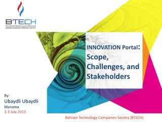 INNOVATION Portal :  Scope,  Challenges, and Stakeholders