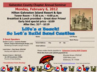Galveston County Chapter Annual Seminar