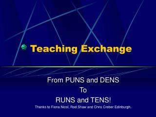 Teaching Exchange