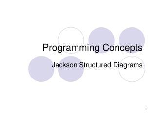 Programming Concepts