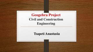 Geogebra Project Civil and Construction Engineering