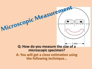 Microscopic Measurement