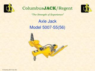 Axle Jack Model 5007-55(56)