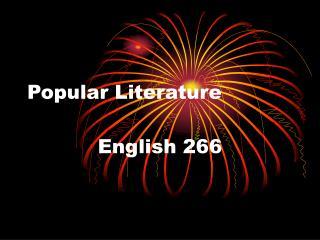 Popular Literature