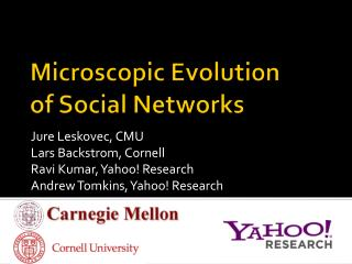 Microscopic Evolution of Social Networks