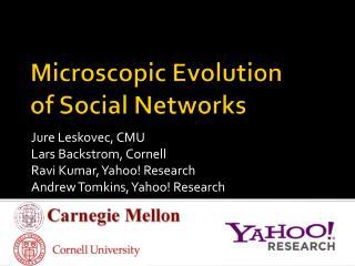 Microscopic Evolution of Social Networks