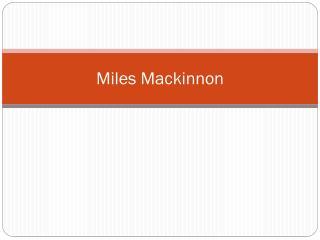 Miles Mackinnon