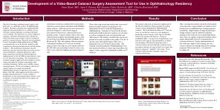 Development of a Video-Based Cataract Surgery Assessment Tool for Use in Ophthalmology Residency