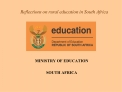 Reflections on rural education in South Africa