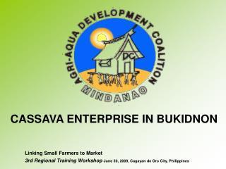 CASSAVA ENTERPRISE IN BUKIDNON