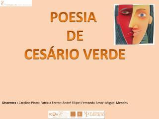POESIA  DE  CES�RIO VERDE