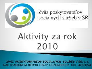 Aktivity za rok 2010