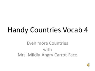 Handy Countries  Vocab  4