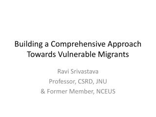 Building a Comprehensive Approach Towards Vulnerable Migrants