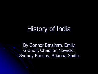 History of India