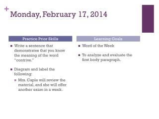 Monday, February 17, 2014