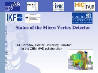 Status of  the Micro  Vertex Detector