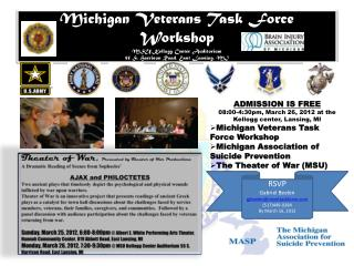 ADMISSION IS FREE 08:00-4:30pm, March 26, 2012 at the Kellogg center, Lansing, MI